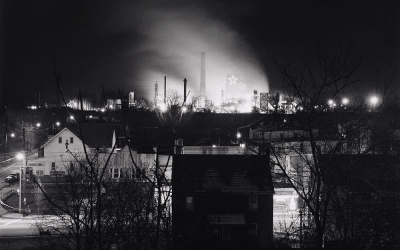 Photo by Joseph E.B. Elliott, Last Night at the Coke Works, from Bethlehem Steel Portfolio, 1997, Gelatin silver print, courtesy of Lehigh University Art Galleries Teaching Collection.